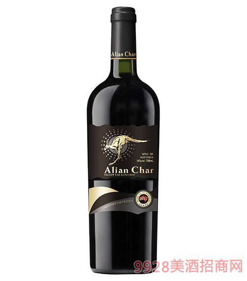 艾奢爾·黃尾袋鼠西拉干紅葡萄酒14度750ml