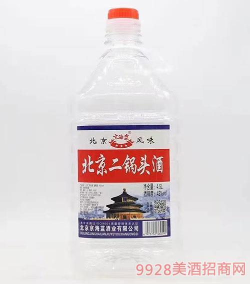 京海蓝北京二锅头酒42度4.5L