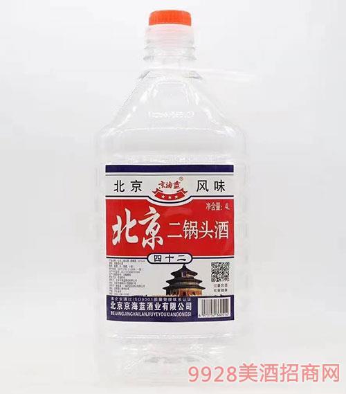 京海蓝北京二锅头酒42度4L