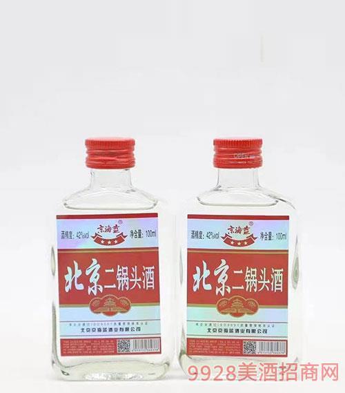 京海蓝北京二锅头酒42度100ml红标