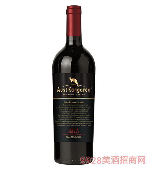 大袋鼠西拉干�t葡萄酒15度750ml