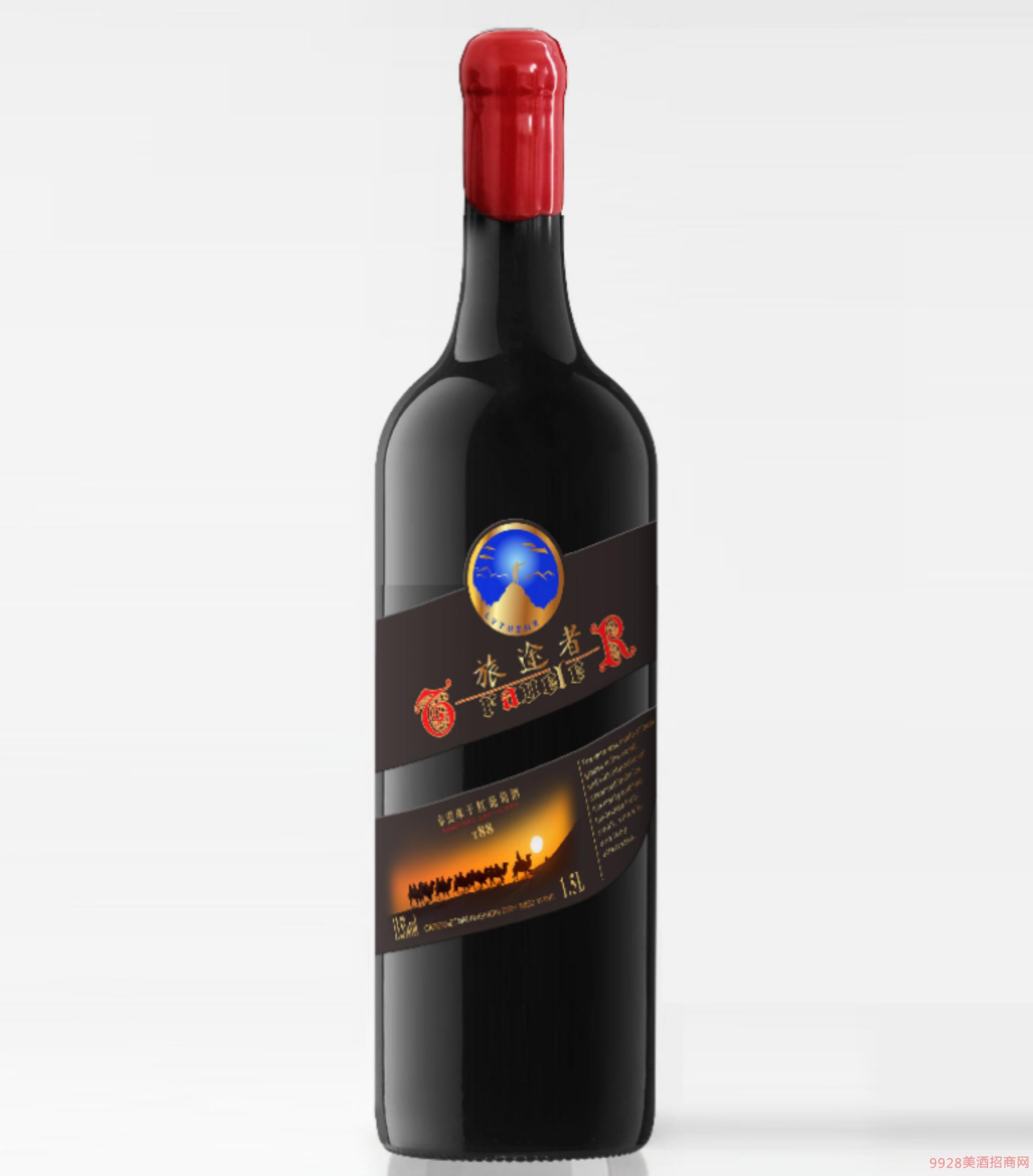 旅途者赤霞珠干�t葡萄酒T88-13.5度1.5L