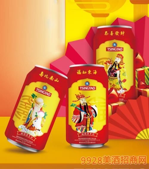 青島啤酒11度330ml福祿壽罐啤