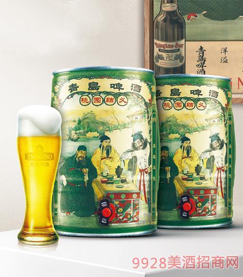青島啤酒12度5L桃園結義桶啤