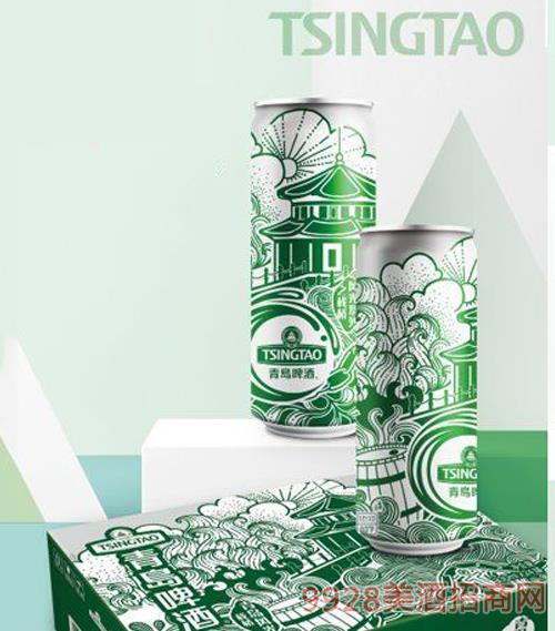 青島啤酒9度330ml棧橋風光罐啤