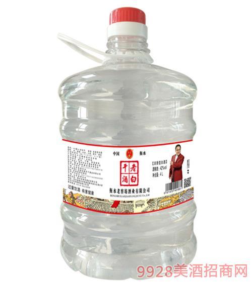 老白干酒桶�b42度4L