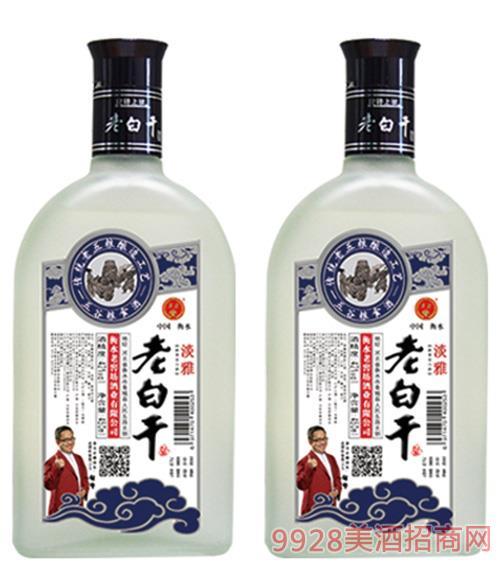 淡雅老白干酒(扁磨砂瓶)52度450ml