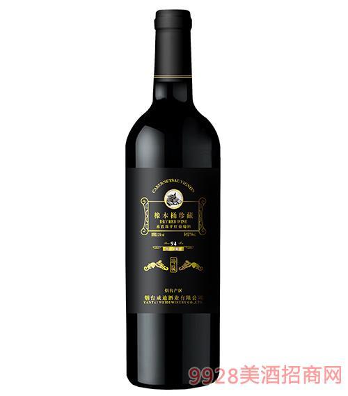 94珍藏橡木桶��干�t葡萄酒12度750ml