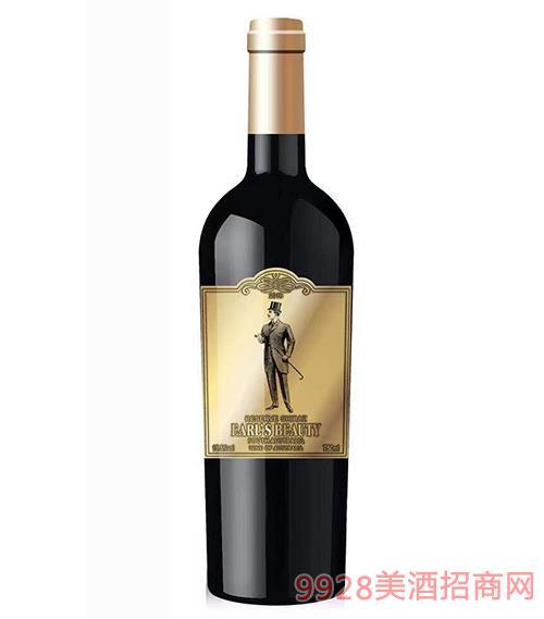 男爵干�t葡萄酒15.5度750ml