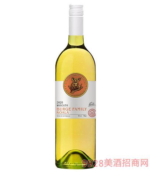 酒�f考拉甜白葡萄酒8度750ml