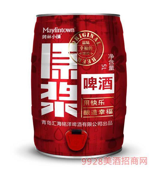 美林小�原�{啤酒5L