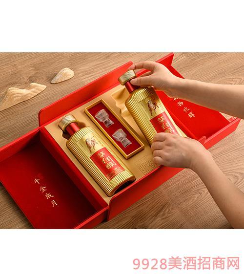 茅台醇邮票文化酒(牛金岁月)(红)-柔和酱香型【53°-500ml】