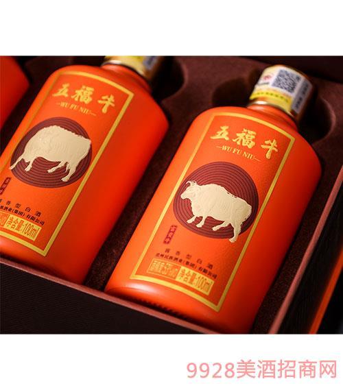 五福牛酒 酱香型白酒【53度 100ml】