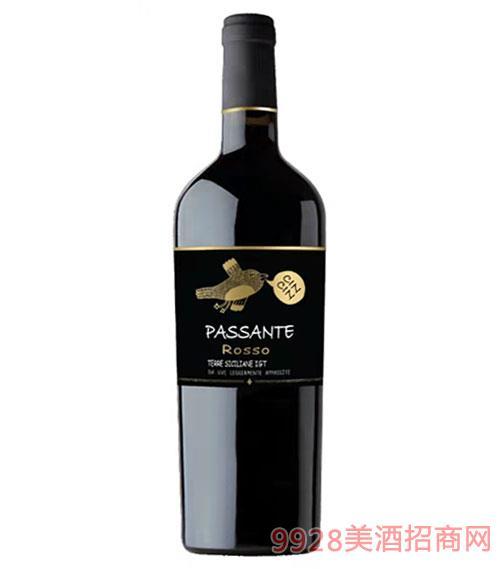 黑金鳥風干紅葡萄酒750ml