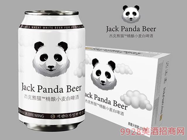 杰克熊�精�小��白啤酒10.2度320ml