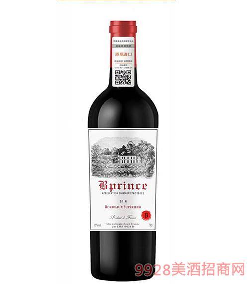 柏翠王子超级波尔多干红葡萄酒15度