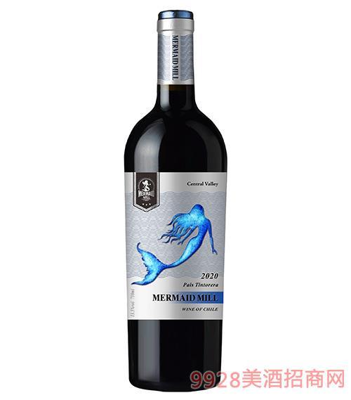 美人鱼磨坊干红葡萄酒13.5度750ml