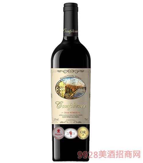 康夫伦河谷干红葡萄酒15度750ml