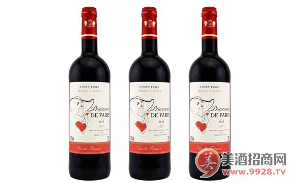 【发现美酒】法国巴黎公主干红葡萄酒