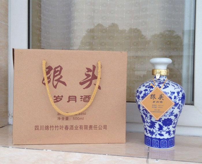 竹叶春酒业出新产品啦!跟头―岁月酒火热招商中!