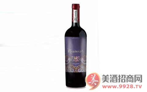 雕花烫印工艺酒标夜莺赤霞珠红葡萄酒,带给您非凡体验!