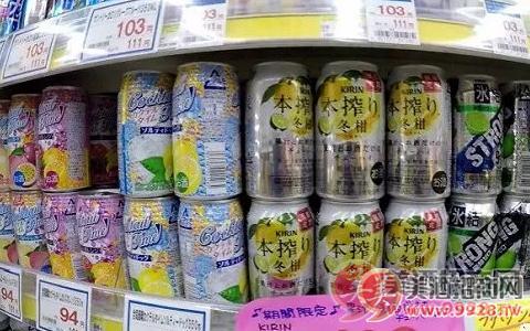 日本超市货架上的Chu-Hi
