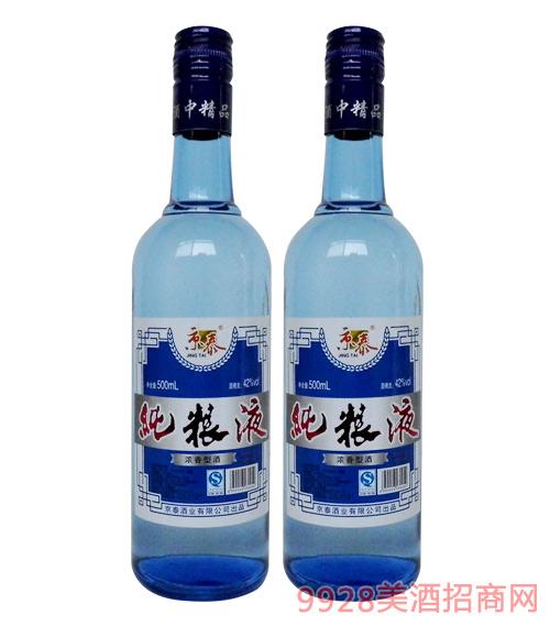 京泰纯粮液酒42度500ml