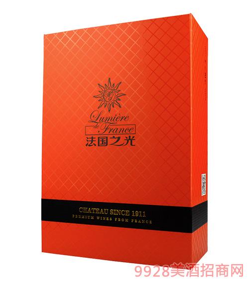 双支装橘色折叠礼盒