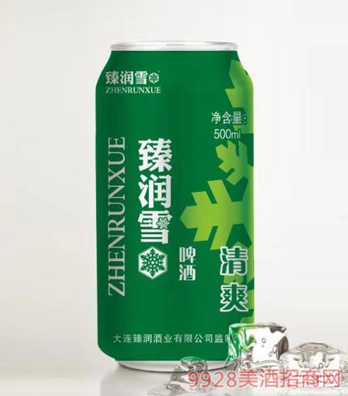 臻润雪啤酒罐装500ml