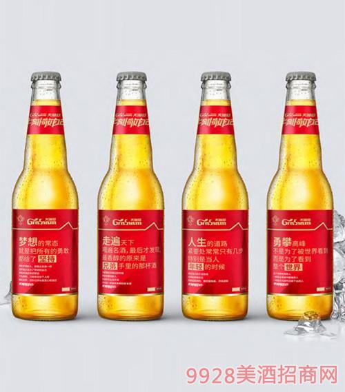 大�M冠啤酒文案�Z�500ml瓶-�t��