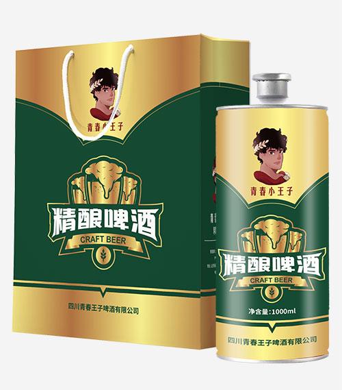 青春小王子精�啤酒1000ml