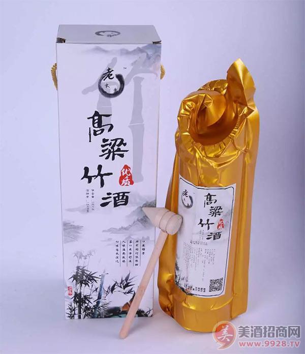 老木盆高粱竹酒