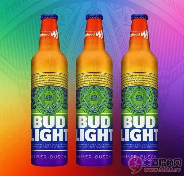 百威彩虹铝瓶淡啤