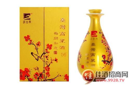 洪金龙台湾梅开如意高粱酒价格及品质