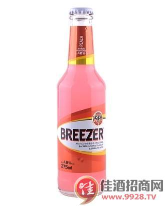 4.8°百加得冰锐朗姆预调酒蜜桃味275ml