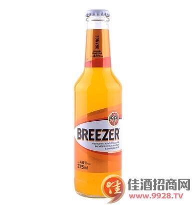 4.8°百加得冰锐朗姆预调酒橙味275ml