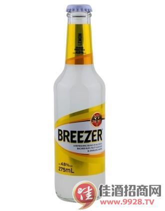 4.8°百加得冰锐朗姆预调酒柠檬味275ml