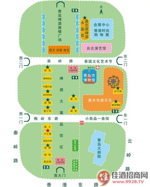 2014青岛啤酒节世界城示意图