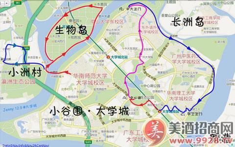 广州景点地图_广州旅游景点一日游