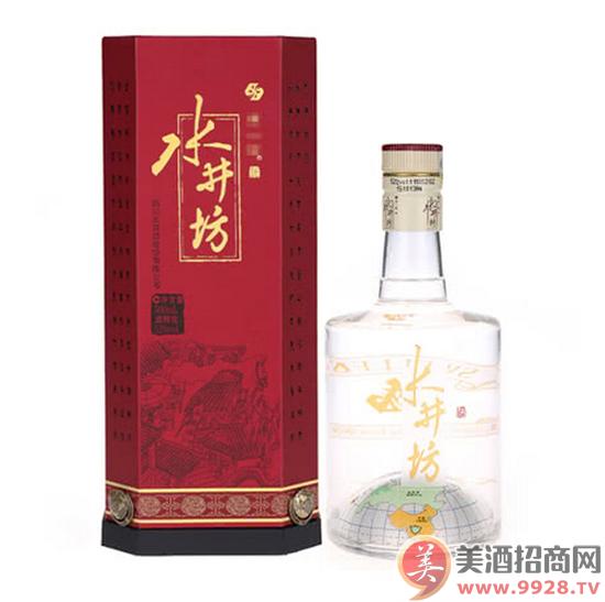 52°水井坊地球瓶浓香型白酒500ml白酒