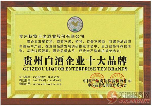 贵州白酒企业十大品牌