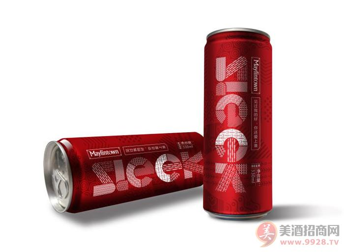 美林小镇啤酒Sleek红罐