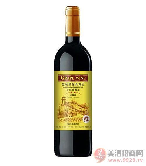 金装星级长红干红葡萄酒750ml
