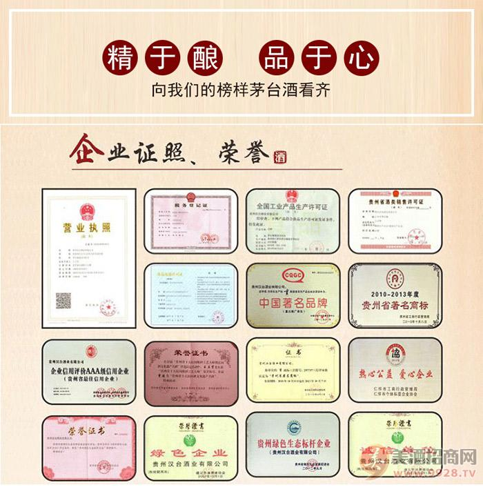 贵州汉台酒业有限公司荣誉
