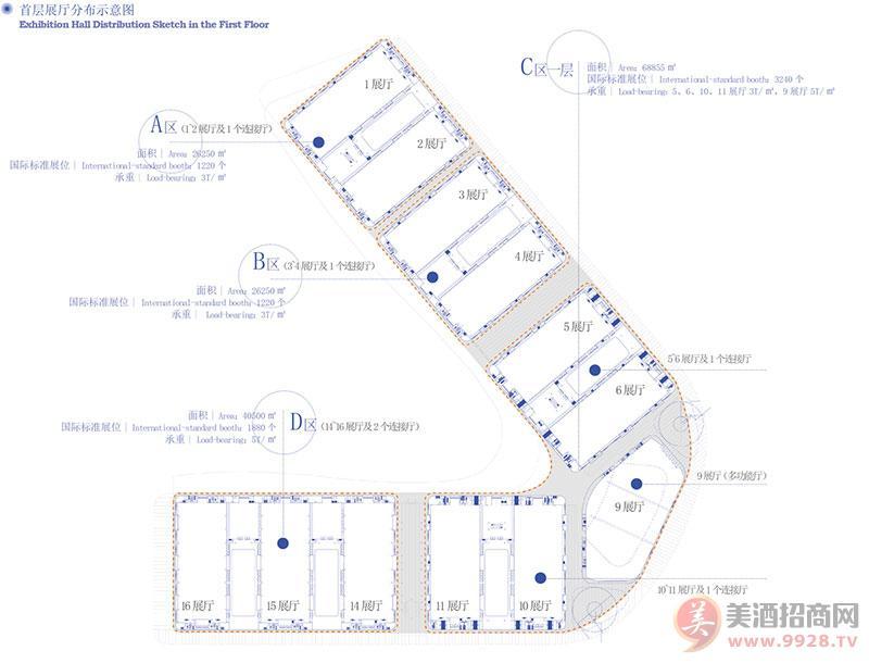 中国西部国际博览城展厅分布图
