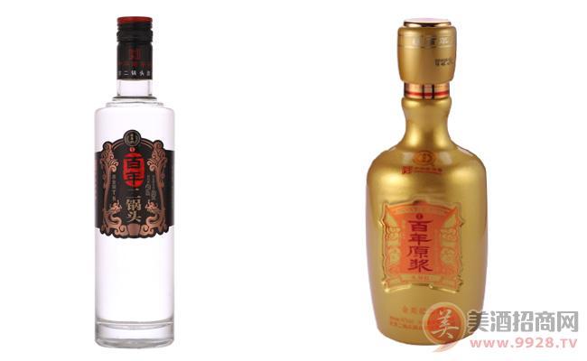 百年二锅头酒与百年原浆酒土豪金