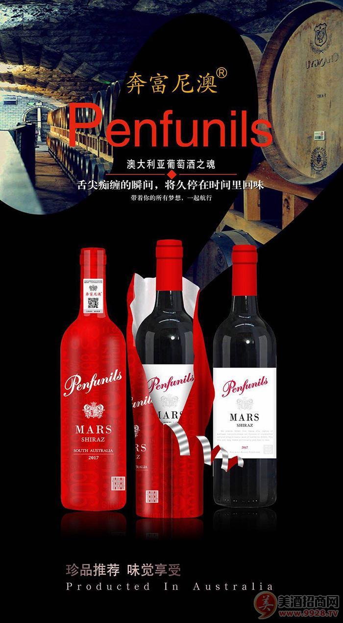 奔富尼澳西拉干红葡萄酒2017-750ml