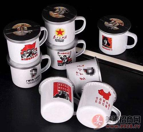 搪瓷杯喝茶图片