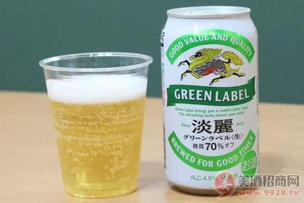 麒麟淡丽绿标啤酒