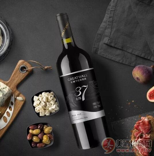 长城北纬37精选级解百纳干红葡萄酒整箱750ML*6支装